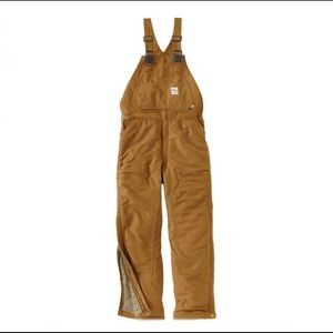 CARHARTT FLAME-RESISTANT DUCK OVERALL/QUILT LINED